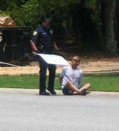 "Terry being handcuffed and forced on the ground… but NOT ""arrested""."